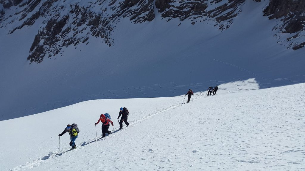 esquí de travesía en ascenso